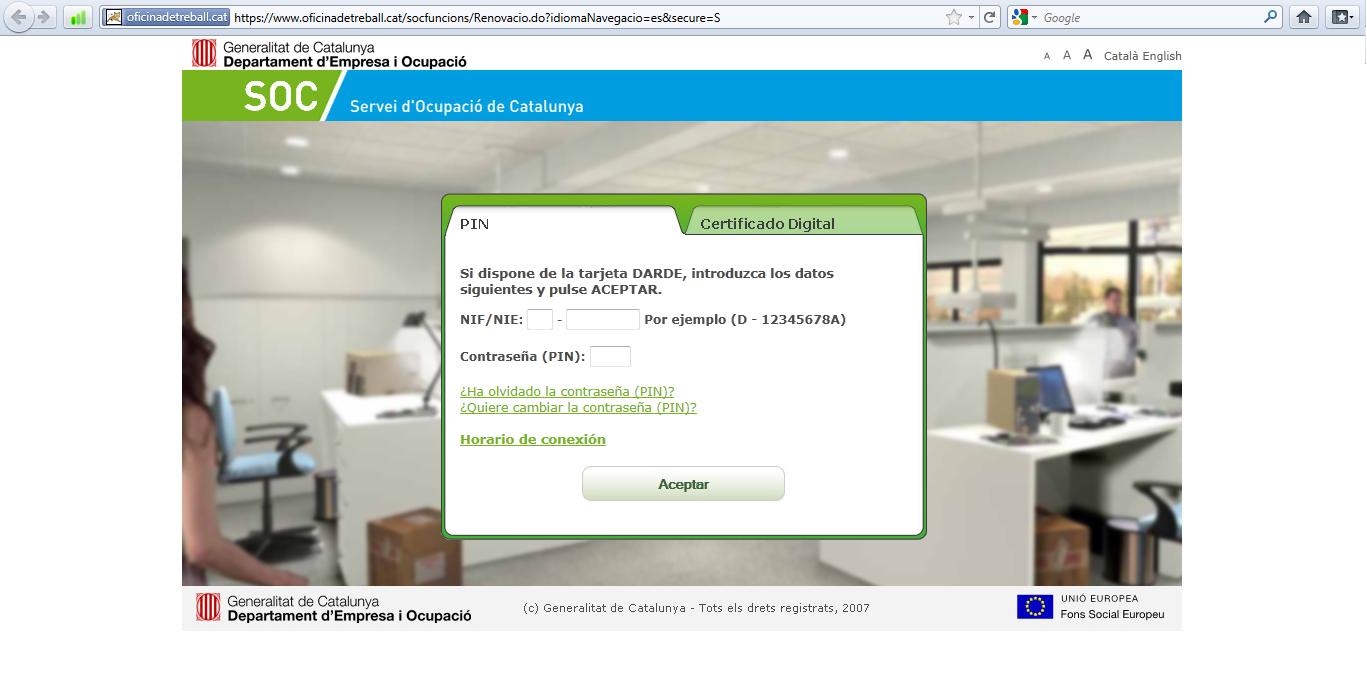 Oficinas del sepe en barcelona tasa de paro for Oficina virtual inem para sellar