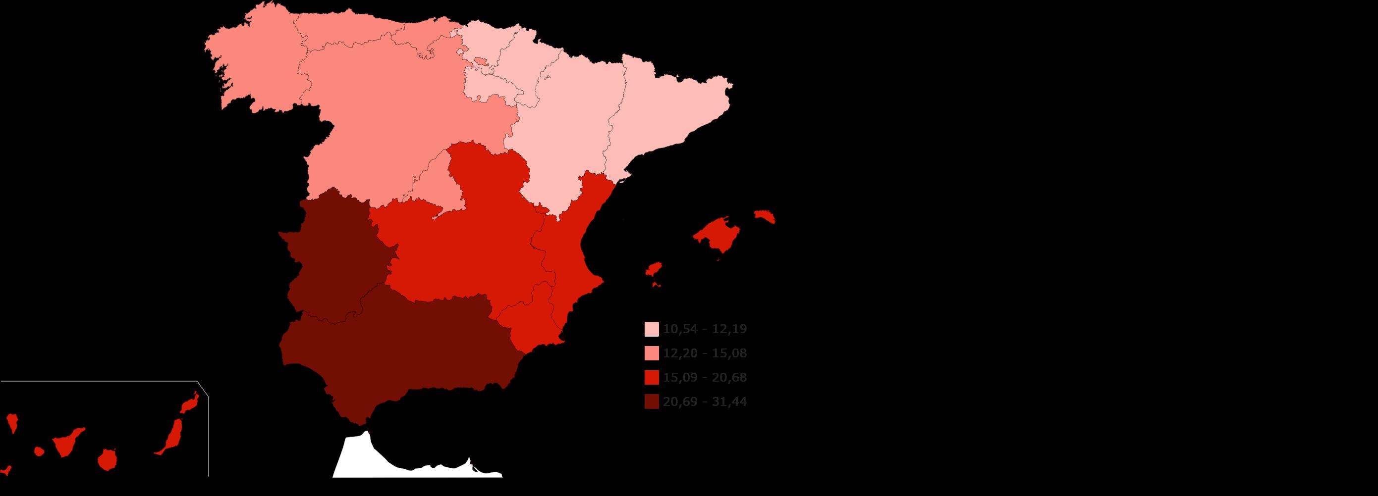 El Paro Por Comunidades Autónomas Tasa De Paro